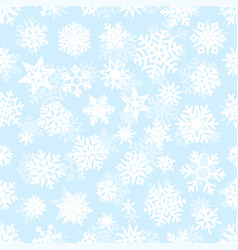 winter white snowflakes seamless pattern vector image