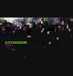 abstract glitch effect background vector image vector image