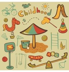 Cartoon children playground icon vector image vector image
