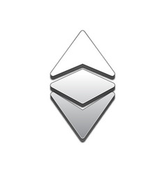 ethereum classic trendy 3d style icon vector image vector image