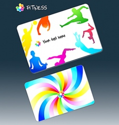 fitness business card vector image