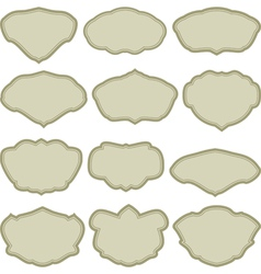 simple frames vector image vector image