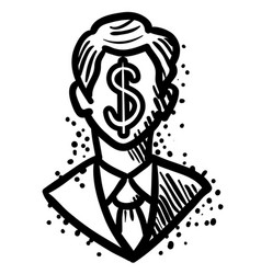 Cartoon image of businessman icon leadership vector