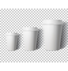 Coffee Cup Set Isolated on Transparent PS vector image vector image