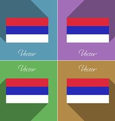 Flags Republika Srpska Set of colors flat design vector image