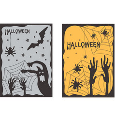 halloween set of two vertical banners vector image
