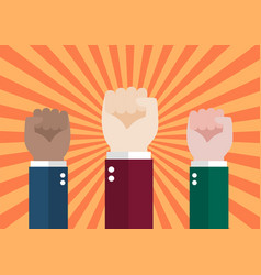 human hand protesters vector image vector image