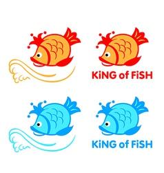King of fish symbol vector image vector image