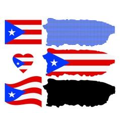 Map of Puerto Rico vector image vector image