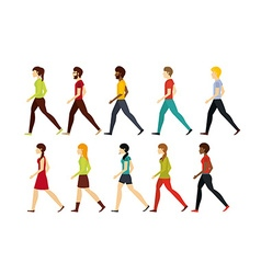 people walking design vector image vector image