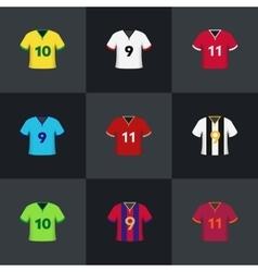 Soccer football shirts set vector image