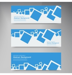 banner Abstract blue brochure squares vector image vector image