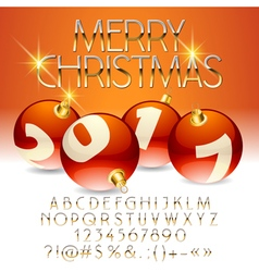 Beautiful Merry Christmas 2017 greeting card vector image vector image