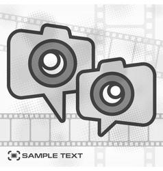 Camera icon film strip vector image