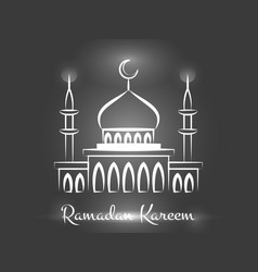 ramadan kareem background design vector image vector image