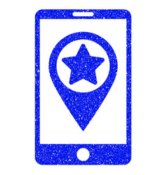 smartphone map pointer grunge icon vector image
