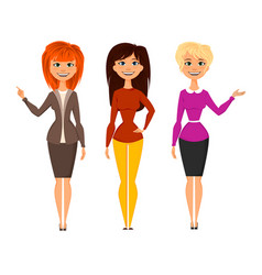 young pretty women vector image vector image