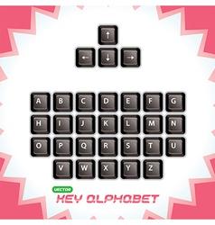 3d Keyboard Keys vector