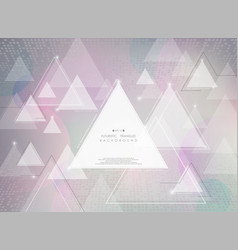 abstract futuristic technology triangle colorful vector image