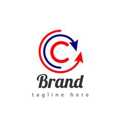 arrow brand logo template design vector image