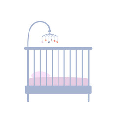 Baby crib icon in pastel vintage colors furniture vector