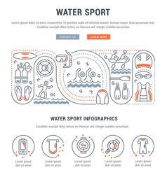 Banner water sport vector