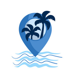 beach location icon vector image