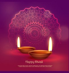 Beautiful hindu festival of diwali background vector