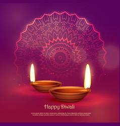 Beautiful hindu festival of diwali background vector