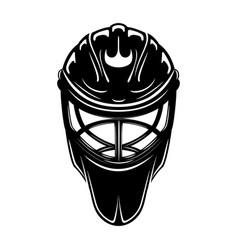 Black sign hockey goalkeeper helmet vector