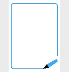 Blue highlighter page border vector