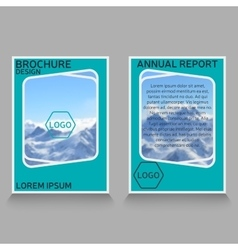 Brochure design annual report cover vector
