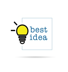 Bulb icon with best idea design vector