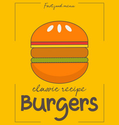 burgers poster vector image