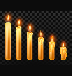 burning candle burn church candles wax fire and vector image