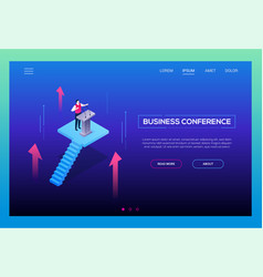 business conference - modern isometric vector image