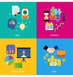 Business steps concept flat vector image