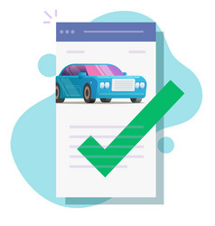 Car or vehicle insurance contract policy document vector