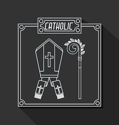 Catholic design vector