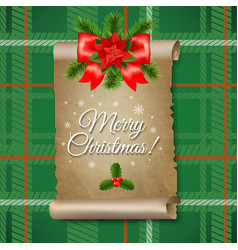 christmas old paper banner vector image