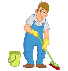 Cleaner man vector