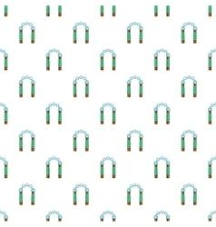 Combat nunchaku pattern cartoon style vector