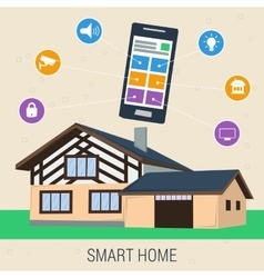 Concept smart house with control panel vector