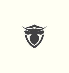 Cow logo icon template design vector