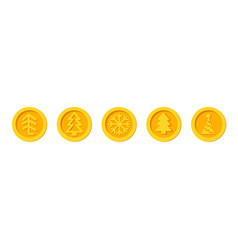 Cryptocurrency coins of santa claus christmas vector