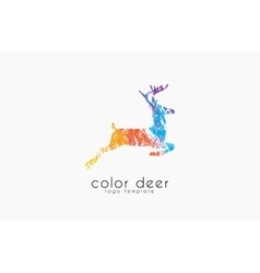 Deer logo design Color deer Animal logo vector image