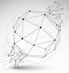 Dimensional wireframe object transparent spherical vector