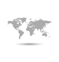 dotted black world map on white background world vector image