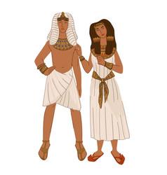 Egyptian couple man and woman ancient egypt vector