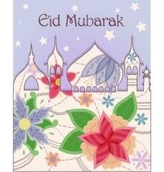 Eid mubarak background vintage vector